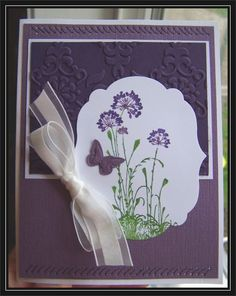Serene Silhouettes in Purple- Queen Bev - faux stitching