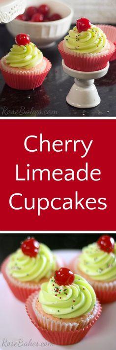 Cherry Limeade Cupca