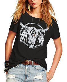a1ffaf3253a46 Womens Street Pattern T-Shirt Short Sleeve Loose Summer Top Tee - Black -  CZ17YS9KHTS