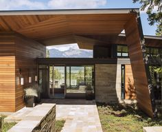 Carney Logan Burke Architects have designed the Butte Residence in Jackson, Wyoming.