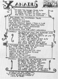 Xanadu lyrics