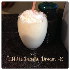 Peachy Dream~I have stumbled on amazing!.....being a Georgia girl, peaches are everywhere. On a whim I picked some up and really didn't have any plans for them. I am amazed at how good this is! My kids loved this drink! It tastes just like a milk shake. No kidding!