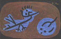 Blue bird pumpkin par Paul Klee
