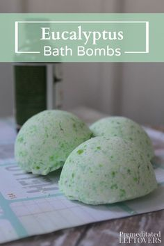 These homemade Eucalyptus Bath Bombs are perfect for when you're feeling under the weather or need to unwind. Make them in batches for yourself or for gifts for friends! DIY gift idea.