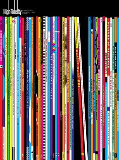 Incredible High Fidelity poster-- the record spines feature quotes from the film. I'm really smitten with this one.