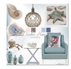 """""""Coastal"""" by arethaman ❤ liked on Polyvore featuring interior, interiors, interior design, home, home decor, interior decorating, Stanley, Currey & Company, homedesign and coastaldecor"""