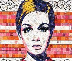 A Junk Mail Portrait of the Lovely Twiggy