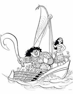 Moana And Maui Sailing Moana Coloring Pages - We have dedicated this page to fans of the Disney film Moana. You can find Moana coloring pictures to color. Moana Waialiki is a princess who will liv. Space Coloring Pages, Summer Coloring Pages, Cartoon Coloring Pages, Disney Coloring Pages, Mandala Coloring Pages, Free Printable Coloring Pages, Coloring For Kids, Coloring Pages For Kids, Coloring Books