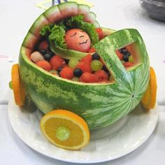 fruit art. I do believe this would be cute for any occasion or just to get the little ones to eat their fruit
