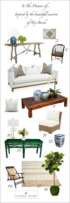 How To Get A Sunroom Like Tory Burch (for a lot less money) | laurel home