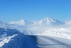 Stalin's Road of Bones (Kolyma Highway) in Oymyakon, Yakutia, Siberia/Russia. Oymyakon is the coldest inhabited place on the Earth.