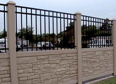 Vinyl Steigerhout Look : Best vinyl stone fences gates images drive gates fence