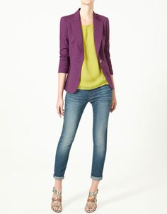 BLAZER WITH LAPEL - Collection - Woman - New collection - ZARA United States