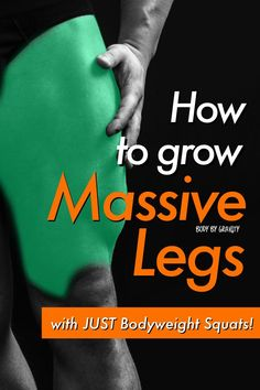 Grow your legs with these bodyweight exercises. These bodyweight squat progressions will grow your leg strength and size in a matter of weeks! Leg Workouts For Mass, Gym Workouts For Men, Workout Plan For Men, Weight Lifting Workouts, Bodyweight Strength Training, Leg Training, Emom Workout, Gym Plans, Leg Routine