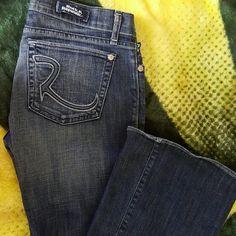 Rock & Republic size 28 Gently used, marginally distressed hem, Rock & Republic Jeans Flare & Wide Leg