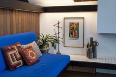 Color - midcentury living room by Adrienne DeRosa