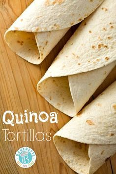 Tortilhas de quinoa sem gluten nem lactose (boa receita para fazer em quantidade para congelar)