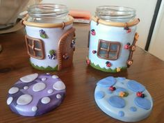 The cutest little jar houses.