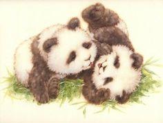 baby pandas-Cute artwork.
