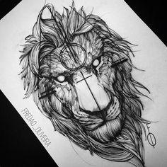 """#Repost @fredao_oliveira ・・・ Loving this ink drawing! #lion #lionart #art #ink…"