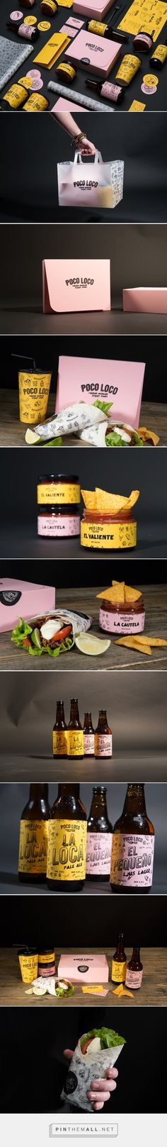 Branding, graphic design and packaging for Poco Loco on Behance curated by Packaging Diva PD. Mexican restaurant located in Karlstad, Sweden with a new identity and products and a new takeaway concept.
