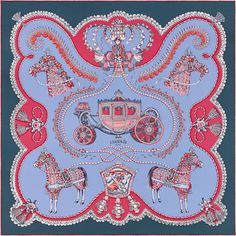 Paperoles   parme/marine/framoise   Hermes silk twill scarf, hand-rolled, 36