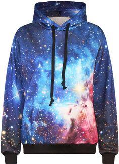 747616359 TDOLAH Galaxy Print Pullover Jumper Ladies Hoodies Fancy Sweatshirts for  Teenage Girls (S M