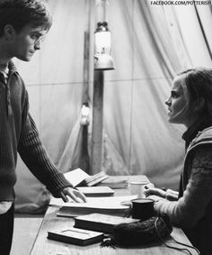 Harry and Hermione in the tent