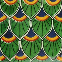 Traditional Mexican Tile - Cola De Pavo