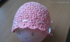 Háčkovaná čiapočka pre novorodenca (fotopostup)