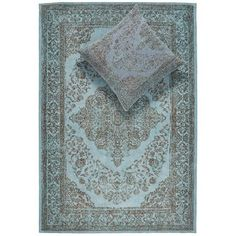 Vloerkleed Abadan petrol 160x240 cm, alles voor je klus om je huis & tuin te verfraaien vind je bij KARWEI