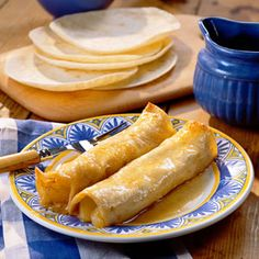 Apple pie enchiladas - apple pie filling in tortillas (we added cream cheese, too), soaked in a quick, easy syrup and baked.  Had them last night and they're awesome!