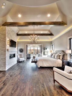 Fire place in bedroom