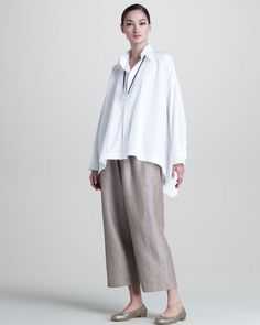 Eskandar Check Weave Tunic in Flame » Santa Fe Dry Goods | Clothing and accessories from designers including Issey Miyake, Rundholz, Yoshi Yoshi, Annette Görtz and Dries Van Noten