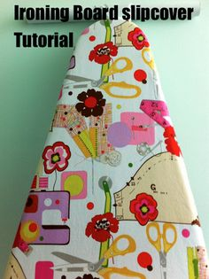 SO SO easy and quick!! Ironing Board Cover DIY