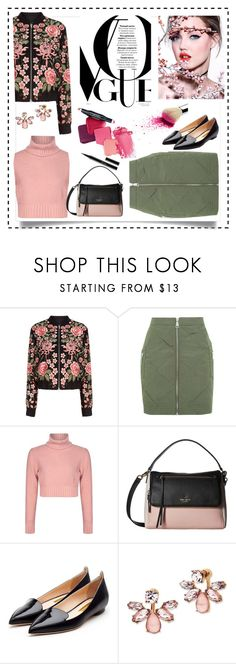 """""""Going out"""" by pamphil ❤ liked on Polyvore featuring Needle & Thread, Topshop, Kate Spade, Rupert Sanderson, Marchesa and Guerlain"""