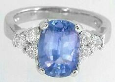 Light Blue Sapphire, Blue Sapphire Rings, Ceylon Sapphire Ring, My Engagement Ring, Gold Platinum, Beautiful Rings, Fashion Jewelry, White Gold, Bling