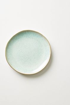 "Perasima Dessert 8.75"" Plate by Anthropologie in Mint, Dinnerware"