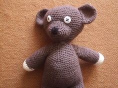 Lonely Bear (Mr. Bean's Bear) By Akinna Stisu - Free Crochet Pattern - (ravelry) thanks so for share xox  ☆ ★   https://www.pinterest.com/peacefuldoves/