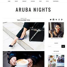 WordPress Theme: Aruba nights - new wordpress design! #blogdesign #bloggers #wordpress