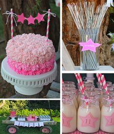 Under the Stars Star Gazing Birthday Party Theme Girl Kids Pink