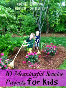 Great post that has 10 great service projects for the family,   Great way to teach our children to be servants like Christ.