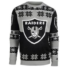 Oakland Raiders Big Logo Crew Neck Ugly Sweater