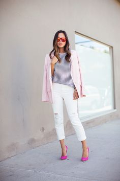 I like the color of this jacket; I also like the striped shirt; just not the slant in the hem