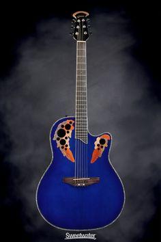 Ovation CC48-5 Black Celebrity Deluxe Acoustic Guitar ...