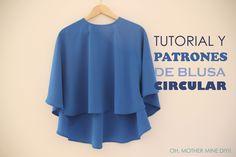 Tutorial y patrones: Blusa circular para mujer