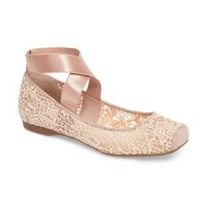 best website c615e df0cc ... Strap Flat (580 SEK) ❤ liked on Polyvore featuring shoes, flats,  square-toe ballet flats, ballet shoes, flat shoes, strappy ballet flats and  flat pumps