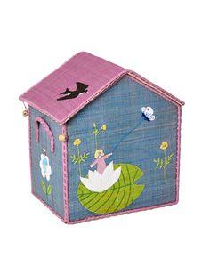 Süßer Spielzeugkorb zum Spielen und aufräumen. Der Korb ist aus Bast gefertigt und liebevoll verziert. Gleich bestellen!