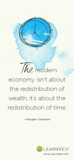 The modern economy isn't about the redistribution of wealth ...