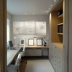Paint Colors Home Office Design Ideas. Hence, the need for residence offices.Whether you are intending on adding a home office or remodeling an old space into one, right here are some brilliant home office design ideas to help you begin. Office Cabinet Design, Home Office Cabinets, Office Interior Design, Office Interiors, Office Designs, Home Office Layouts, Home Office Space, Home Office Decor, Office Furniture